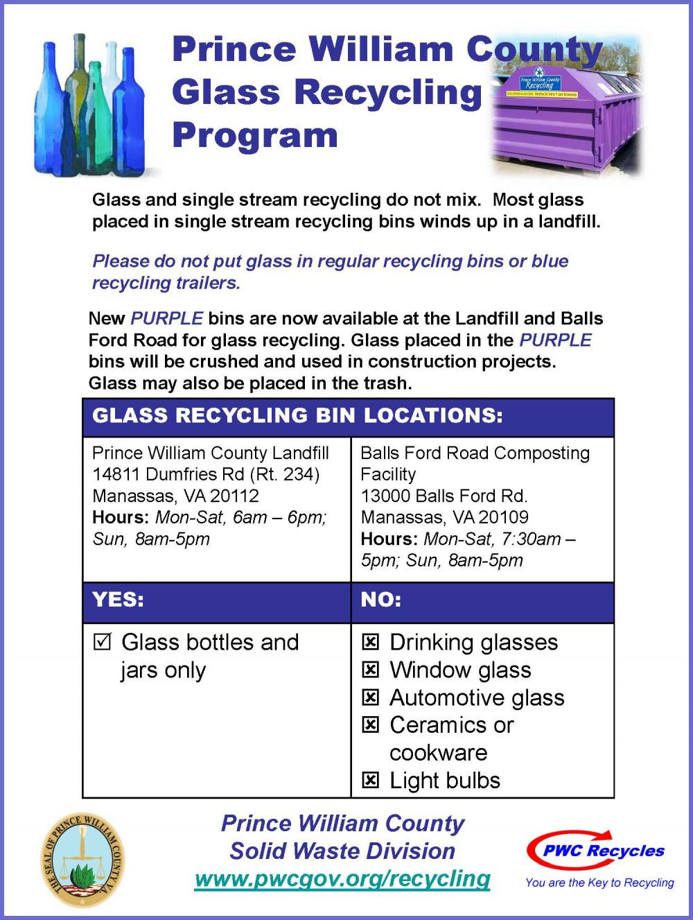 Prince William County Glass Recycling Program | Town of